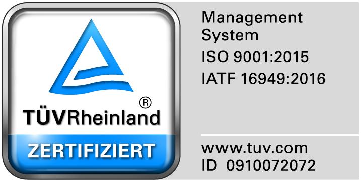 JUMBO TÜV Siegel ISO 9001-2015 + IATF 16949